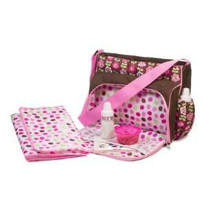 Baby Girl Large Messenger Diaper Bag With Changing Pad Baby