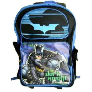Super Hero Batman Large Rolling Backpack   Batman The Dark