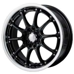 Black w/ Machined Lip) Wheels/Rims 5x100/114.3 (450 7703B) Automotive