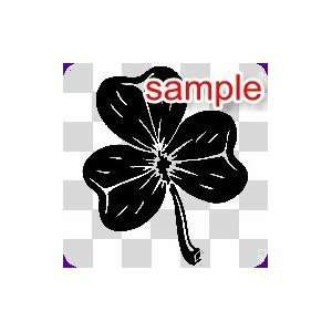 RANDOM THREE LEAF CLOVER 12 WHITE VINYL DECAL STICKER