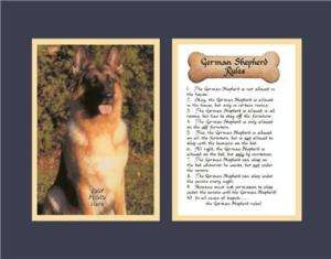 Dog Rules German Shepherd Calligraphy Poem Funny Humor