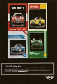 Four MINI COOPER Model Car Trading Cards 2007 Color Ad