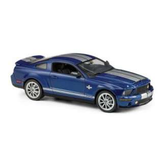 2008 FORD SHELBY GT 500 KR FRANKLIN MINT BLUE / SILVER RACING STRIPES