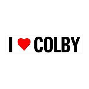 I Heart Love Colby   Window Bumper Sticker Automotive