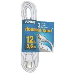 Prime Wire & Cable EC660612 12 Foot 16/2 SPT 2 3 Outlet Indoor Cord