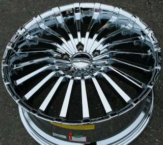 PANTHER SPLINE 911 20 CHROME RIMS WHEELS REGAL LACROSSE LUCERNE