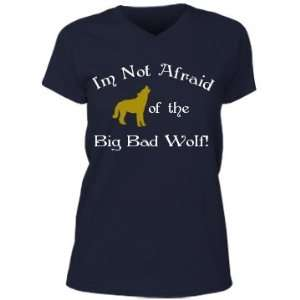 Big Bad Wolf Custom Misses Relaxed Fit Anvil V Neck T