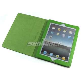 GR Leather Case Cover for Apple iPad 2+Screen Protector