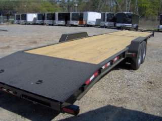 34 car hauler equipment utility trailer 2/3 wood deck