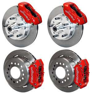 WILWOOD DISC BRAKE KIT,71 74 AMC JAVELIN,11 ROTORS,RED CALIPERS