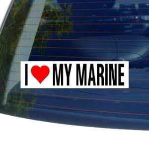 I Love Heart My Marine Window Bumper Sticker Automotive