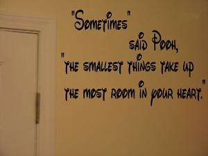 Winnie the Pooh Childrens Quote Vinyl Wall Sticker