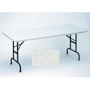 Small Plastic Folding Table with Adjustable Legs Color