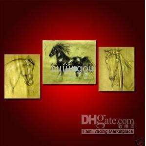 Abstract Large Wall Decor Canvas Art Courser Horse Oil