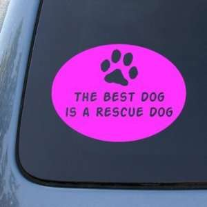 BEST DOG RESCUE DOG   Vinyl Car Decal Sticker #1659  Vinyl Color