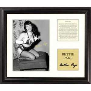 Bettie Page   Ottoman Kneeling   Framed 5 x 7 Photograph