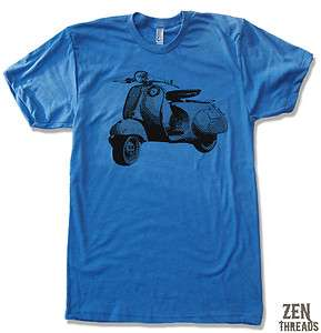 Mens VINTAGE VESPA Scooter Bike Cycle american apparel t shirt tee S M