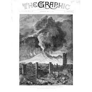 1872 Eruption Vesuvius Mountain Volcano Pompeii Hall