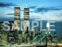 NEW YORK CITY SKYLINE w TWIN TOWERS Italian Charm nyc
