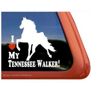 LOVE MY TENNESSEE WALKER ~ Tennessee Walking Horse Trailer Vinyl