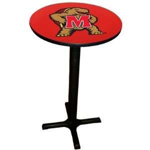 Maryland Terrapins College Laminated Pub Table w/black trim & black x