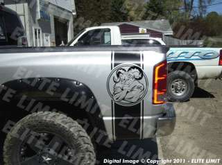 TOUGH GUY Dodge Ram Truck Stripes Bed Decals Vinyl Sticker Graphic
