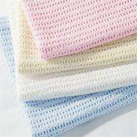 100% COTTON CELLULAR BABY COT BLANKETS   WHITE/CREAM/PINK/BLUE