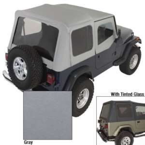 Jeep Wrangler Replacement Soft Top Upper Doors & Tinted Windows Gray