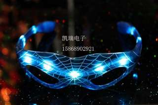 Spider Man LED Flashing Shades Light Up Glasses DJ