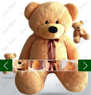 GIANT HUGE FAT 47 BROWN TEDDY BEAR STUFFED PLUSH TOY