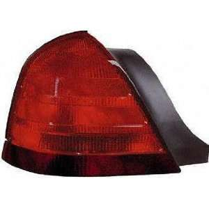 FORD CROWN VICTORIA TAIL LIGHT LH (DRIVER SIDE), With 2 Bulbs, Black