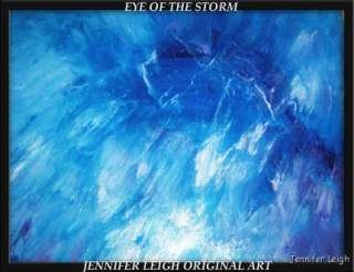 EYE OF THE STORM ORIGINAL ABSTRACT ART PAINTING JLEIGH