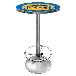 NBA Denver Nuggets Chrome Pub Table