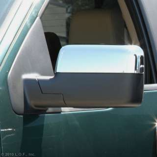 04 08 Ford F150 F 150 Chrome Door Mirror Cover Set Pair Top Half Cover