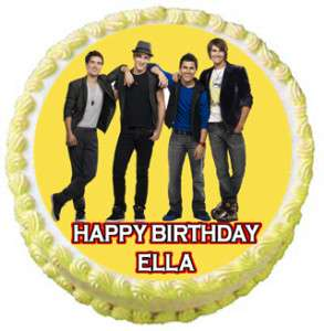BIG TIME RUSH #3 Edible Cake Image Party Decoration NEW