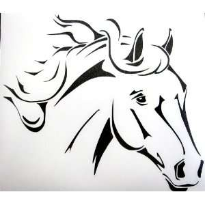 Sm Black Western Stock Quarter Horse Car Window Decal Automotive