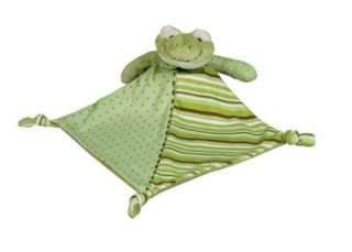 Green Frog Security Blanket Lovey Plush Baby Toy Blankie NWT