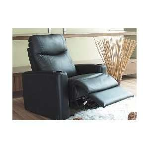 Black Leather Home Theater Reclining Chair