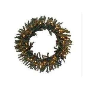 36 Pre Lit Tannenbaum Artificial Christmas Wreath   Clear