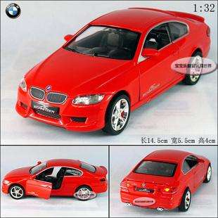 New BMW 335i 132 Alloy Diecast Model Car With Sound and Light Red