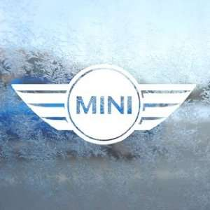 Mini Cooper White Decal Car Laptop Window Vinyl White