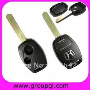 2bt key blank with chip slot honda remote transponder key shell