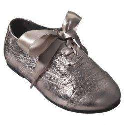 Toddler Girls Genuine Kids OshKosh Dagan Oxford Metallic Patent Dress