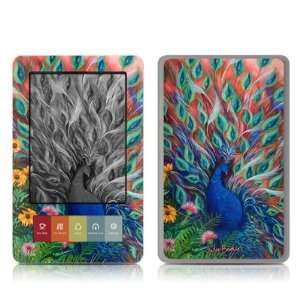 Coral Peacock Design Protective Decal Skin Sticker for
