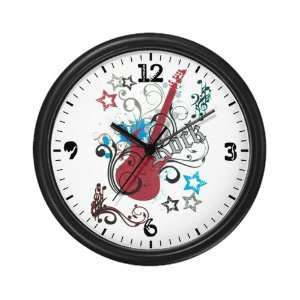 Wall Clock Rock Guitar Music