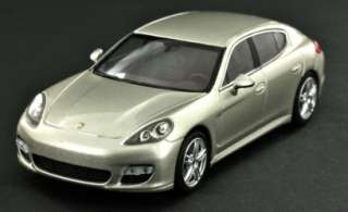 Porsche Panamera Turbo Model Car 143 Silver   OEM