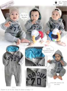 Seventy Napping Baby Boy Girl Infant Warm Clothing / OA 1035 gray