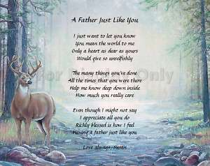 Deer Hunting Personalized Poem for Dad Keepsake Gift