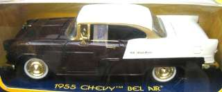 Motor Max 1955 Chevy Bel Air 2 Tone Burg Gold Trim 1/24