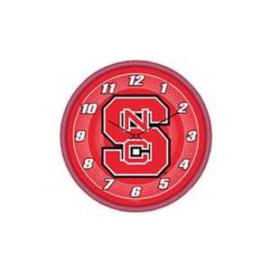 North Carolina State Wolf Pack NCAA Round Wall Clock